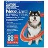 NexGard SPECTRA for Extra Large Dogs 30-60kg (Red) 1 pack