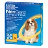 NexGard Spectra Chewables For Small Dogs Yellow 3.6 -7.5kg 3 Pack
