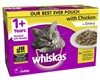 WHISKAS POUCH FAVOURITES CHICKEN SELECTION 85GX12 PACK